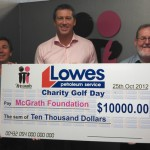 McGrath Foundation cheque