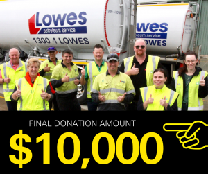 Lowes staff give thumbs up for 10K donation